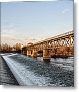 Norristown Dam And Railroad Bridge Metal Print