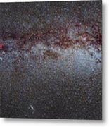 North America Nebula The Milky Way From Cygnus To Perseus And Andromeda Galaxy Metal Print