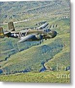 North American B-25g Mitchell Bomber Metal Print