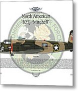 North American B-25j Mitchell Metal Print by Arthur Eggers