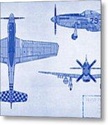 North American P-51d Mustang Metal Print