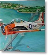 North American T-28 Trainer Metal Print