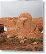 North And South Window Arches Np Metal Print