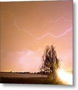 North Boulder County Colorado Lightning Strike Metal Print