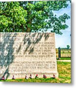 North Carolina Memorial Gettysburg Battleground Metal Print
