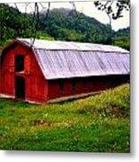 North Carolina Red Barn Metal Print