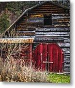 North Carolina Red Door Barn Metal Print