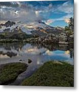 North Cascades Tarn Reflection Metal Print
