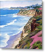 North County Coastline Revisited Metal Print by Mary Helmreich