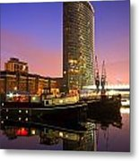 North Dock In Canary Wharf. Metal Print