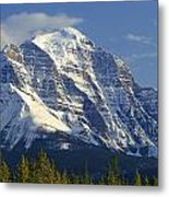 1m3549-north Face Of Mt. Temple Metal Print