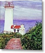 North Head Light House On The Washington Coast Metal Print