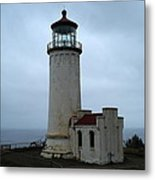 North Head Lighthouse At Cape Disappointment Metal Print