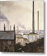 North Kent Landscape  Nr Northfleet Gravesend Metal Print