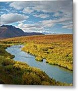 North Klondike River Flowing Metal Print