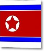 North Korea Flag Metal Print