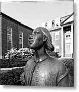 North Park College Nyvall Hall Sculpture Metal Print