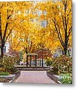 North Plaza Fountain Metal Print