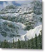 1m3536-north Side Of Crowfoot Mountain Metal Print