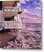 North Topsail Beach Tides That Tell Metal Print