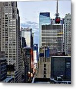 North Up Seventh Avenue Metal Print