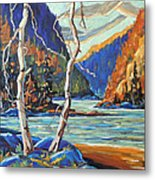 North West Lake By Prankearts Metal Print