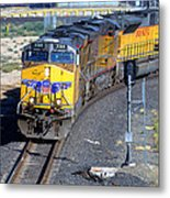 Northbound From Roseville At The Crooked Bridge Metal Print