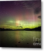 Northern Lights Over Ricker Pond Metal Print