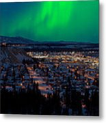 Northern Lights Over Whitehorse Metal Print