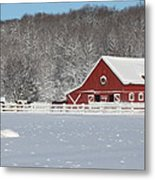 Northern Michigan Country Winter Metal Print