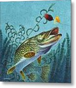 Northern Pike Spinner Bait Metal Print by Jon Q Wright