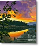 After Glow - Oil / Canvas Metal Print