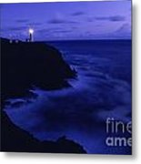Northhead Ilwaco Lighthouse Washington Coastline Metal Print