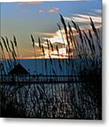 Ocean City Sunset At Northside Park Metal Print