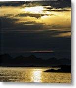 Norway Dramatic Evening Light Metal Print