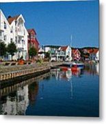 Norway Waterfront Metal Print