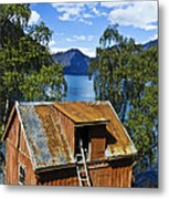 Norwegian Barn House Metal Print