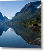 Norwegian Cottages Metal Print