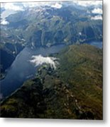 Norwegian Fjord From On High Metal Print