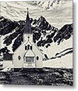 Norwegian Lutheran Church Grytviken Metal Print