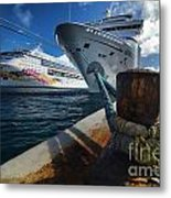 Norwegian Sky Carnival Sensation And Royal Caribbean Majesty Metal Print
