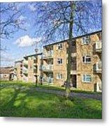 Norwich Apartments Metal Print by Tom Gowanlock