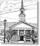 Norwich University White Chapel Metal Print