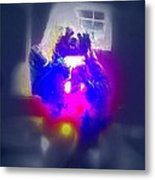 A Girl And Her Dog And Not At All A Munch Vampire  Metal Print