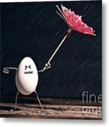 Not Eggs-actly Great Weather Metal Print