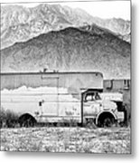 Not In Service Bw Palm Springs Metal Print by William Dey