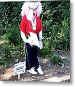 Not So Scary Junior Miss Scarecrow Metal Print