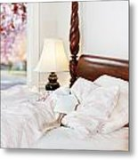 Note On The Pillow Metal Print