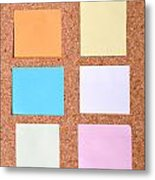 Notes On A Bulletin Board Metal Print