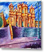 Noto Cathedral Sicily Metal Print